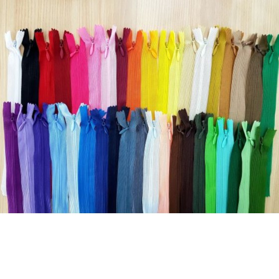 "🎀Zip Tapuk / Zip Sorok / Invisible Zip 20"" 🎀 (12pieces)"