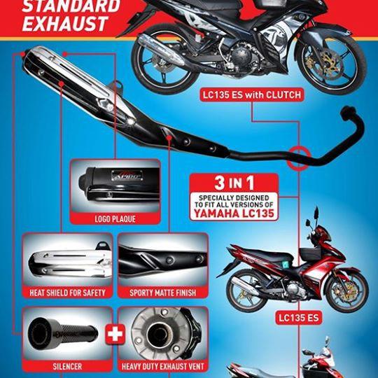 Apido Racing Exhaust for LC135 V1-V4