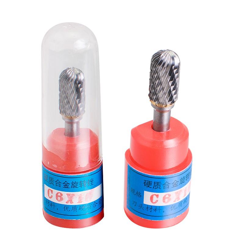 "Cylindrical Cut Tungsten grinding head Carbide Bur Cutting Tool Grinder Bit 1//4/"""