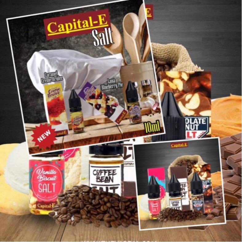 👑 Caramel Creme Brulee Salt/Luna Blueberry Pie Salt By Capital E Vape  Ejuice 10ml
