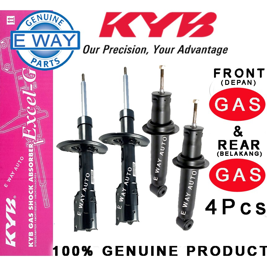 Rear and Front Shock Absorbers KYB Excel-G Kit for Toyota Corolla 2009-2010