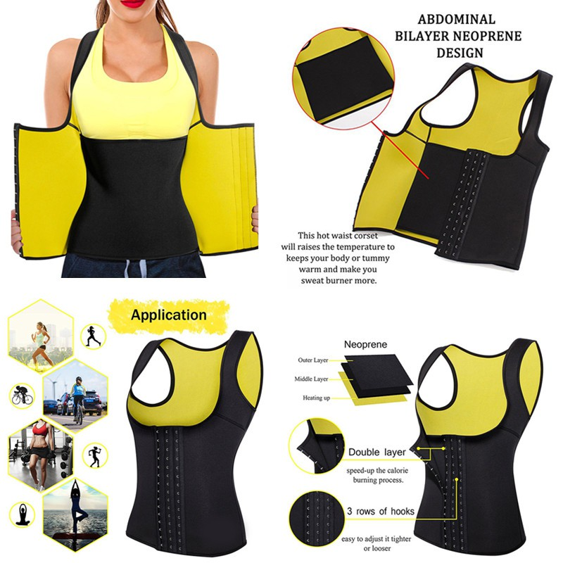 58132ea08aa Men Shapewear Neoprene Sweat Sauna Vest Slimming Belt Belly Thermo Body  Shaper