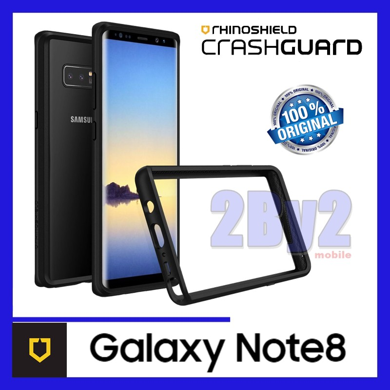 reputable site 15a13 d0a0a Original RhinoShield CrashGuard Bumper Galaxy Note8 Note 8 Bumper case