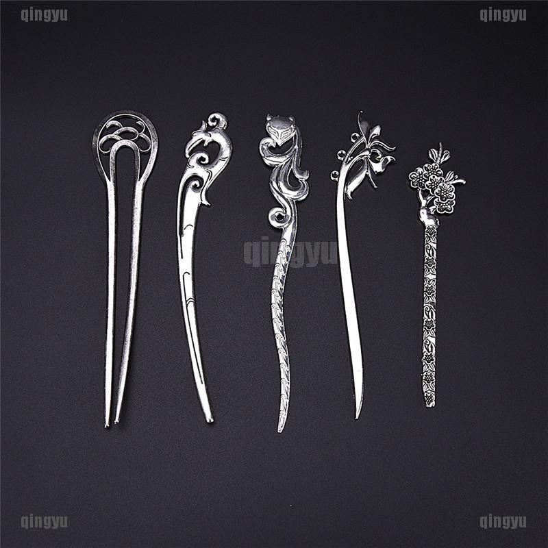 QYTH Hair Sticks Pins Silver Alloy Geometric Headbands Lady
