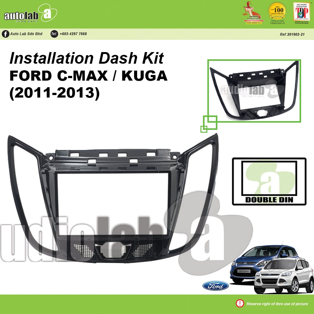 Player Casing Double Din Ford C-Max / Kuga (2011-2013)