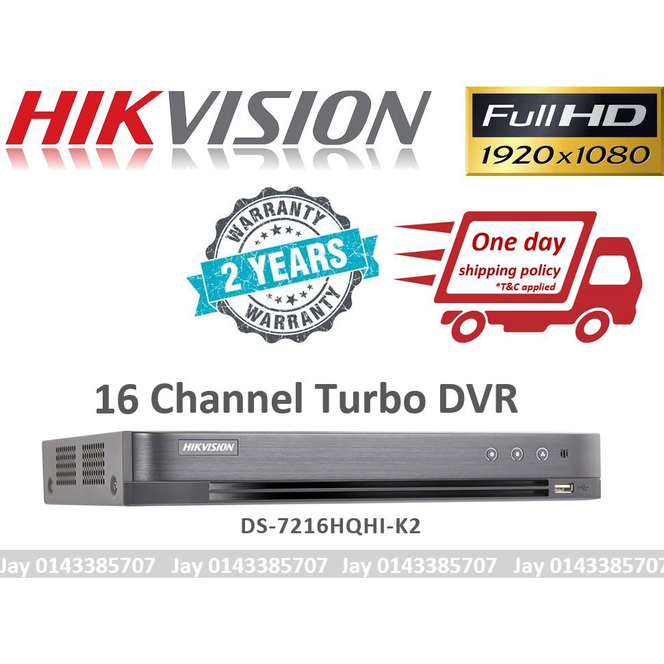 HIKVISION DVR 4CH 8CH 16CH TURBO UPTO 4MP FULL HD CHANNEL AHD TVI CVI CCTV