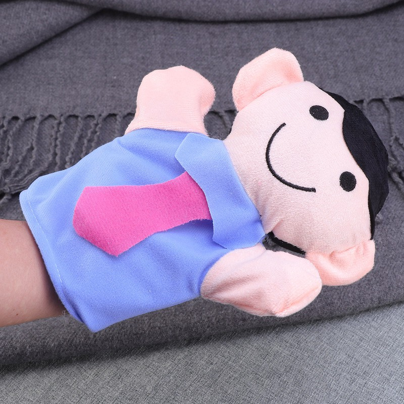 1pc Hand Puppet Plush Adorable Family Members Soft Cute Hand Doll for Teens Kids