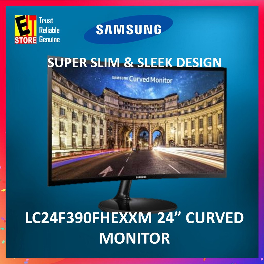 SAMSUNG LC24F390FHEXXM 23 5' CURVED MONITOR with SUPER SLIM DESIGN