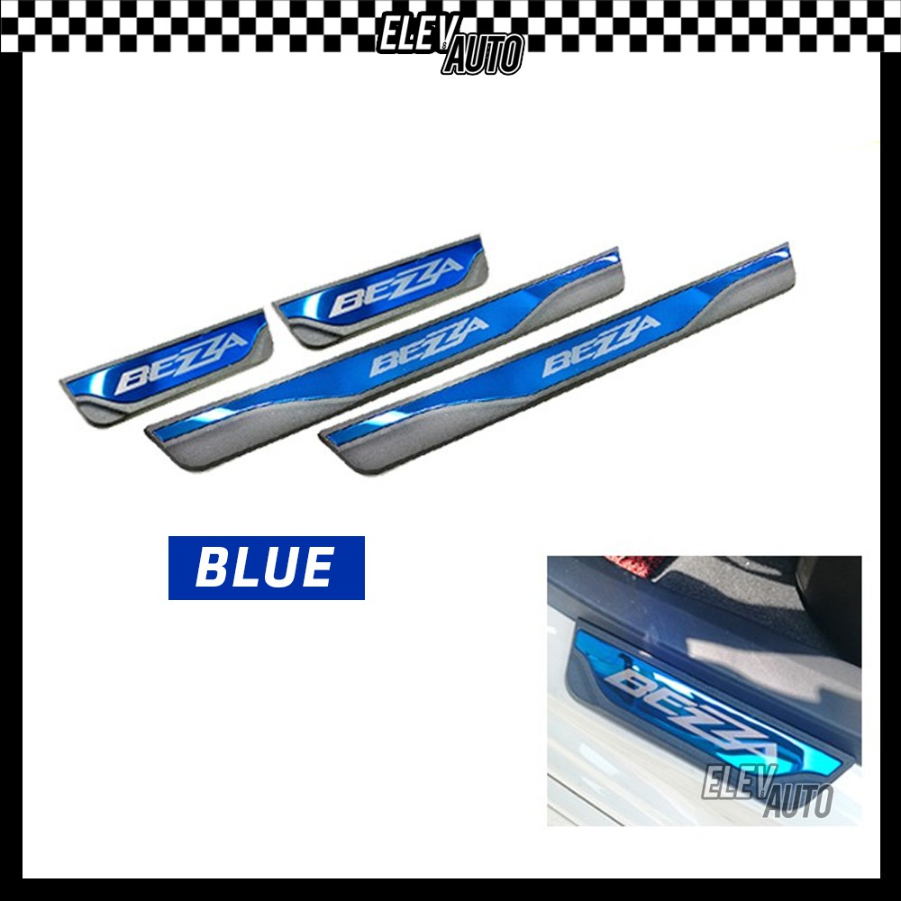 Perodua Bezza Colorful Door Side Sill Step Plate (Blue & Red)