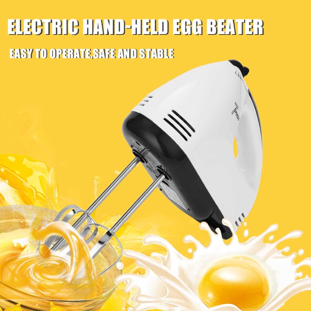 Mini Portable Electric Egg Beater Machine 7 Speed Control Dough Mixer Pastry Blender for Food Processor Egg Tools Kitch