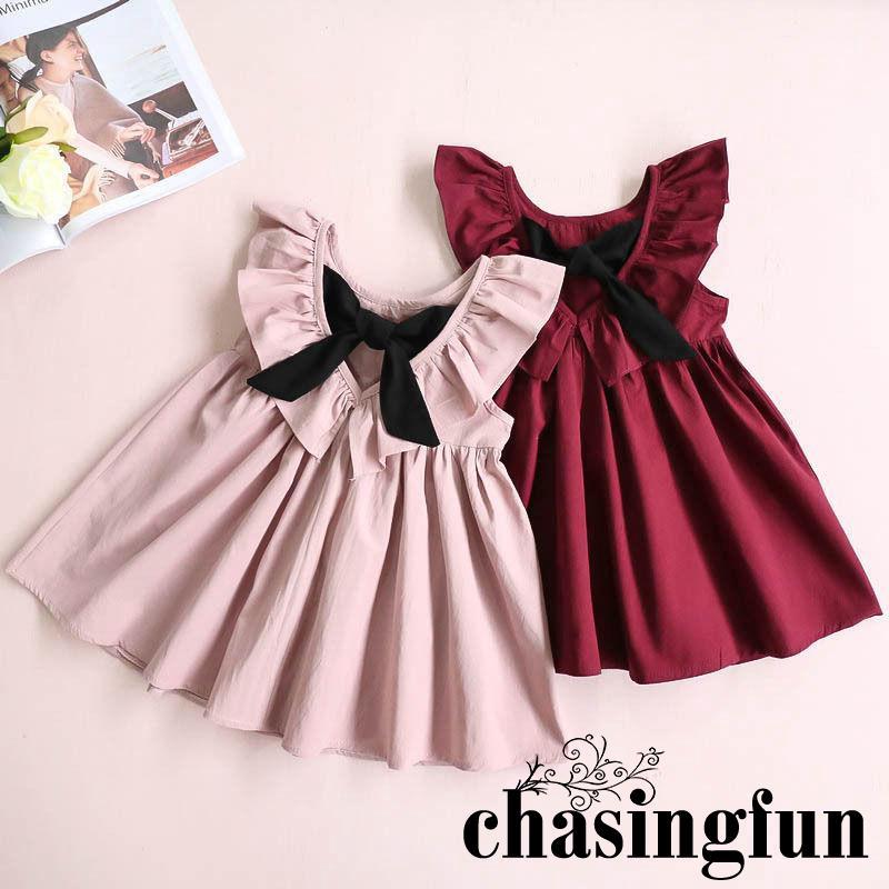 6945aca4874d1 NSY-Kids Baby Girls Sleeveless Dress Summer Sundress Party Dress