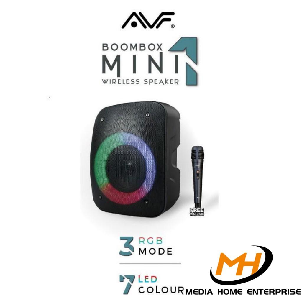 AVF Boombox Mini 1 Wireless Speaker - 40 Watt, FM Radio, BASS effect