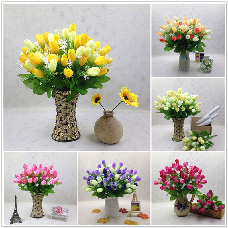 db8562689f3 🔥HOT SALE 🔥Artificial 1 Bouquet 15 Heads Flower Tulip Floral | Shopee  Malaysia