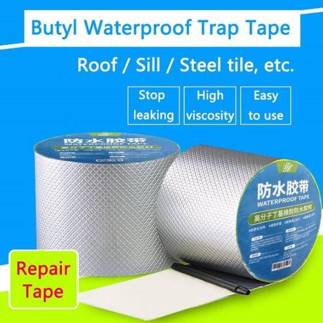 MALAYSIA: TAPE KUAT SIMEN PAIP BUMBUNG/ Waterproof Tape Butyl Rubber Aluminium Foil Tape Adhesive Waterproof Tape