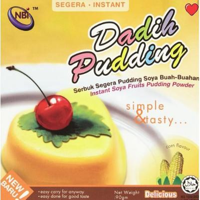 NBI Dadih Instant Soya Fruits Pudding Powder - Corn Flavour @ 90g (  Free Fragile + Bubblewrap Packing )