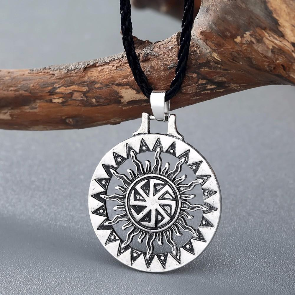 Slavic Amulet Pagan Solar Symbol Slavic Wheel Nordic Amulet Viking Men  Necklaces