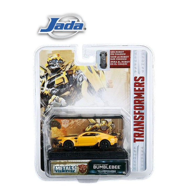 JADA 1:64 TRANSFORMERS THE LAST KNIGHT METAL DIE CAST 2016 CHEVY CAMARO SS BUMBLEBEE (HOLLYWOOD RIDES)(YELLOW) MODEL COL