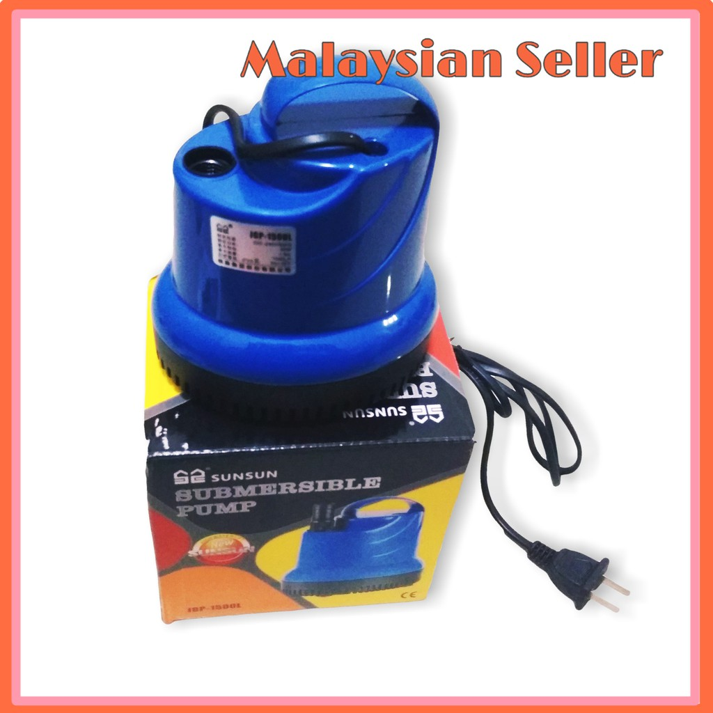 1500L/h 16mm Submersible Water Pump for Fertigation System Pam Air Fertigasi Hydroponic Fish Tank Pond China Socket