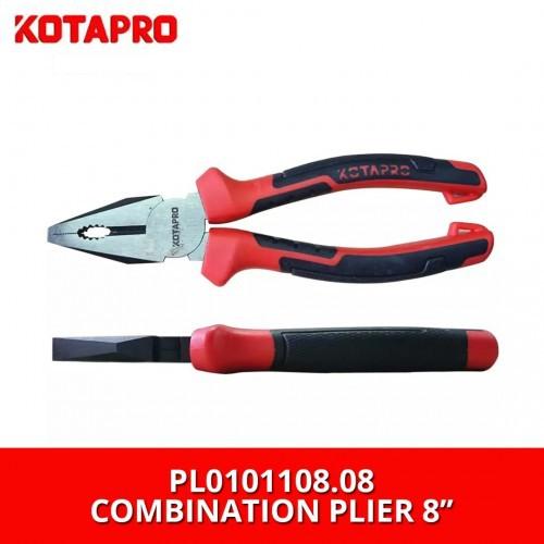 "Kotapro PL0101108.08 Combination Plier 8"" with TPR Handle"