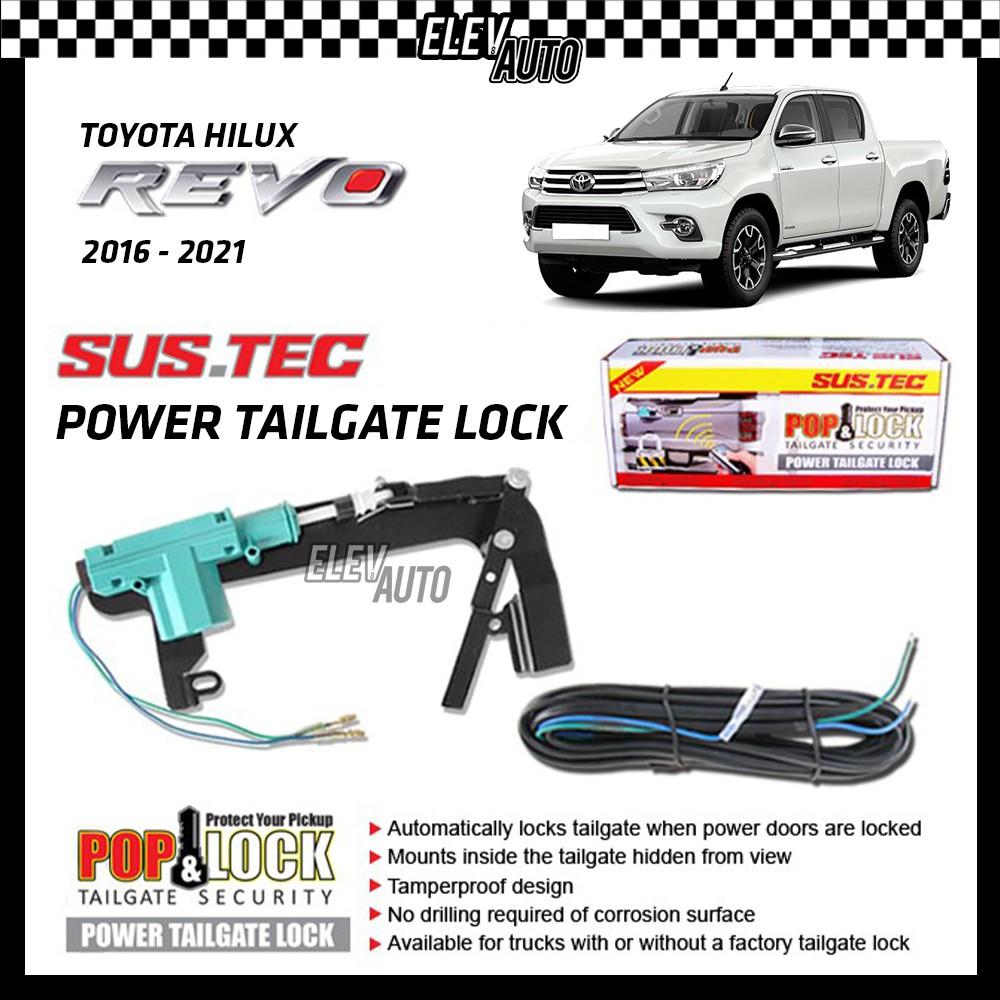 SUSTEC Power Trunk Tailgate Lock Pop & Lock Tail Gate Security Toyota Hilux Revo 2016-2021