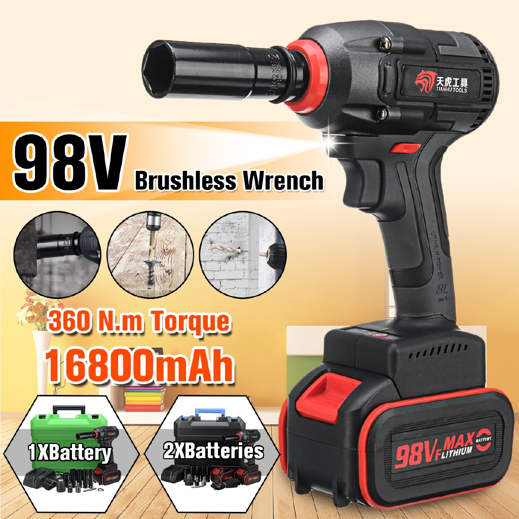 Universal Adaptor Professional 360n.m 68V Brushless Car Electric Impact Wrench