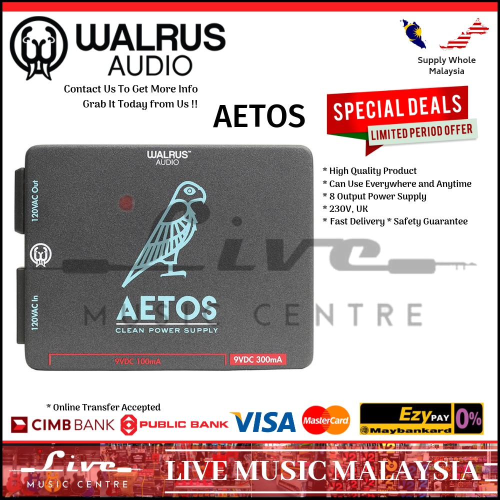 Walrus Audio Aetos 8-output Power Supply 230V UK