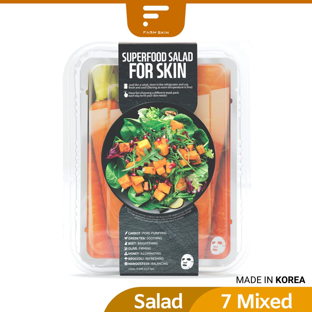 FARMSKIN Superfood Carrot Salad Mask Package (7 Pcs)
