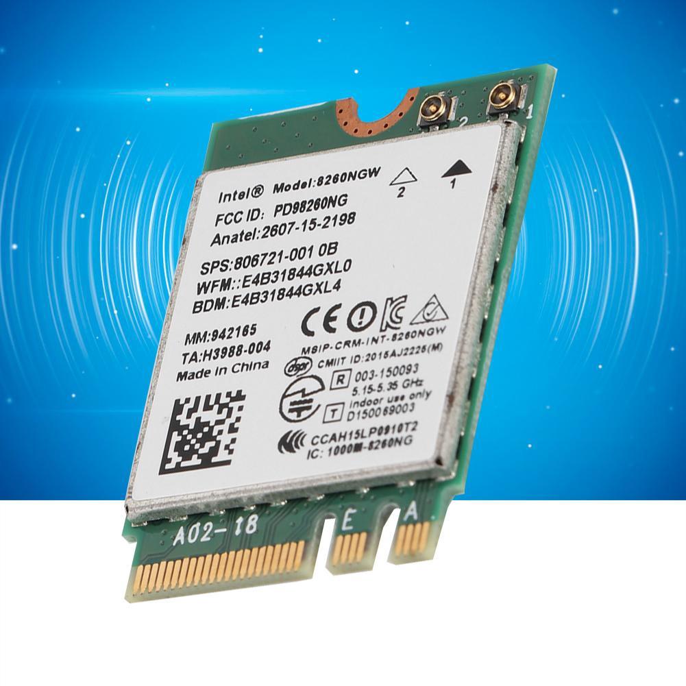 Huida ASHATA Network Card, 8260NGW Internet High Band Dual Band WiFi  Network Card 867Mbps -AC High Gain Network Card for