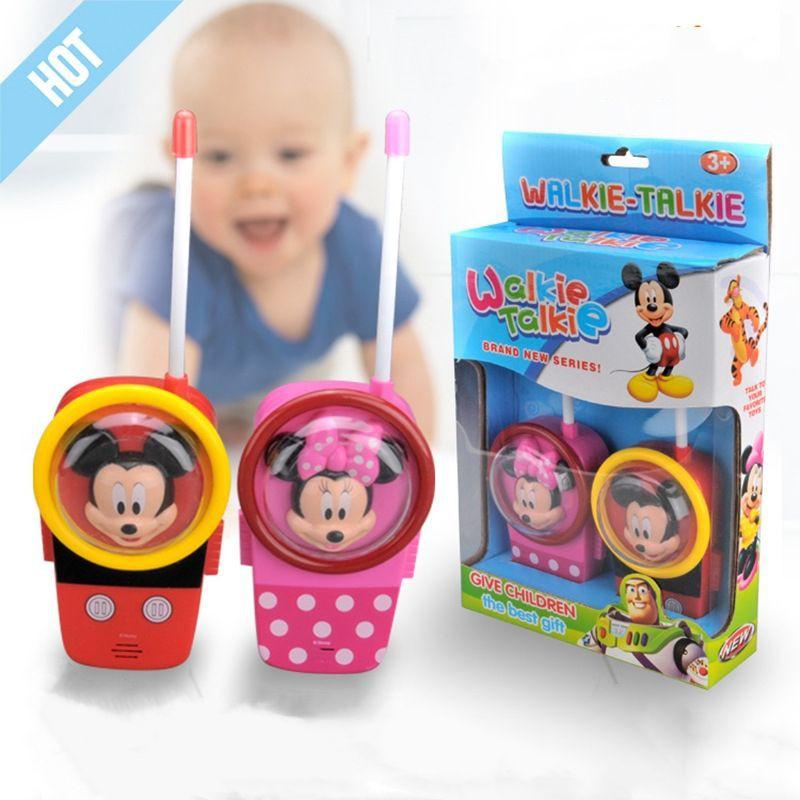 [ READY STOCK ]  Disney Toy Walkie Talkies Baby Budak Wireless Call Boy Girl Telephone Jualan Murah Mainan Battery Bateri