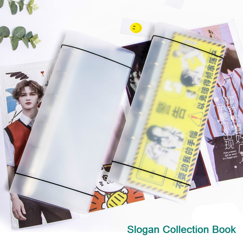 For 15*45cm Star Slogan Collection Book 30/50 Page KPOP BTS EXO BLACKPINK