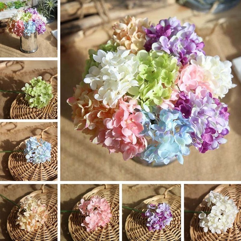 Wedding Bouquets Without Flowers: Artificial Flower Simulation Hydrangea Flower Wedding