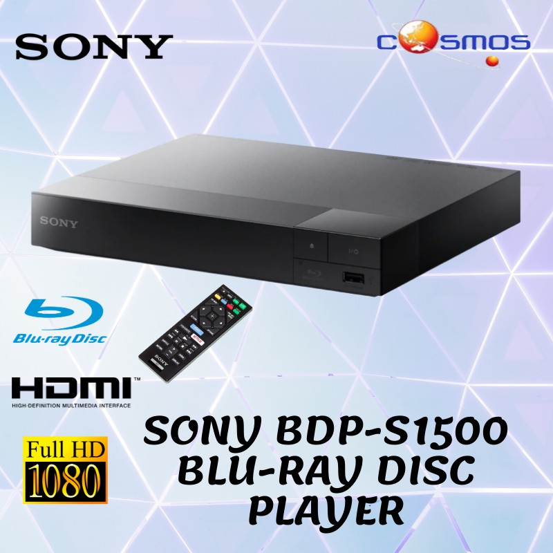 Sony BDP-S1500 Wired Streaming Blu-ray Disc Player ...
