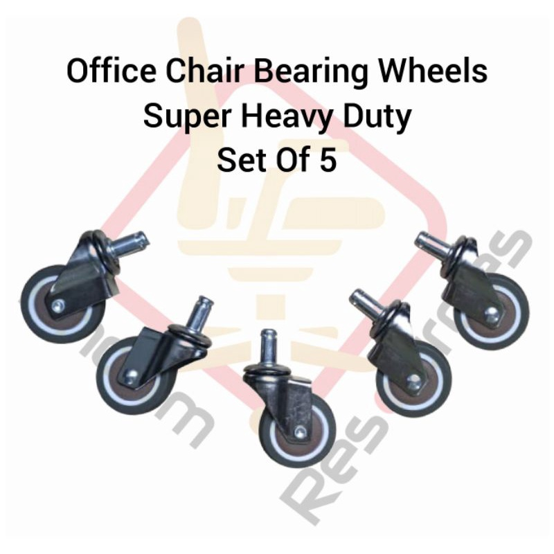Office Chair Wheels With Bearing Super Heavy Duty Suitable For All Type Of Office Chair / Keruisi Pejabat / Office Chair