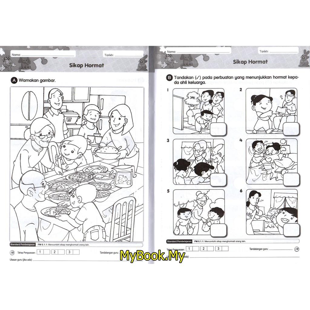 Myb Buku Si Cilik Modul Bersepadu Prasekolah Aktiviti Pendidikan Moral 4 5 Tahun Nusamas Shopee Malaysia