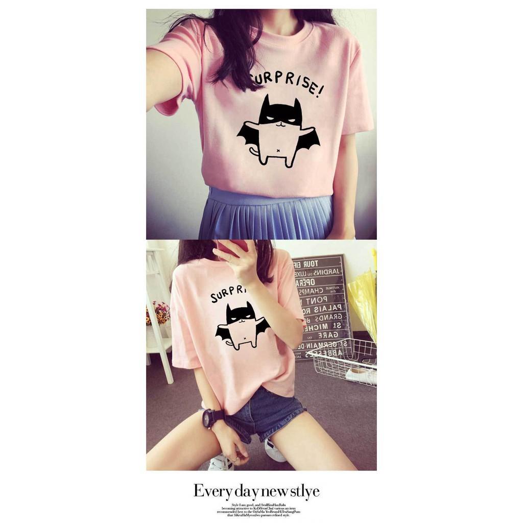 Women Korean Summer Short Sleeve T-Shirt Student Top Suprise Blouse Fashion Bh