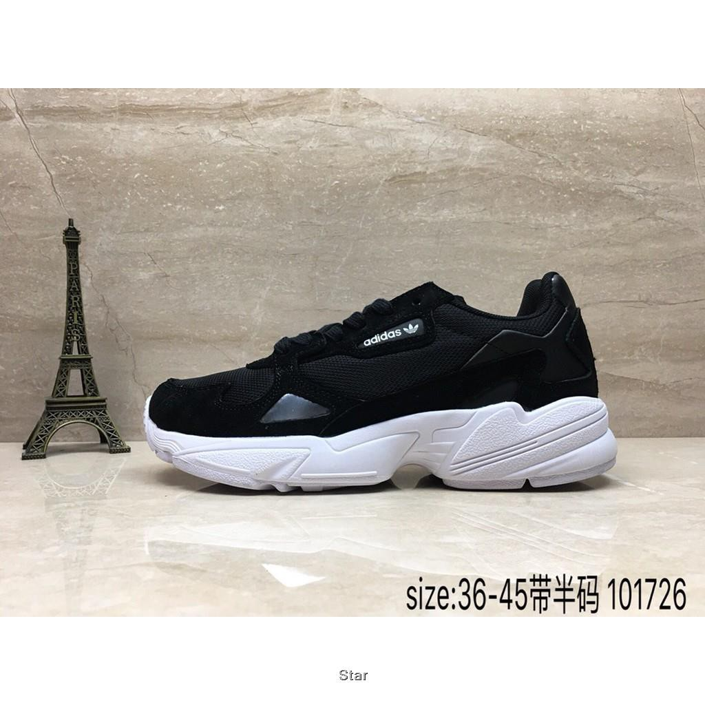 Original New shoes Adidas Falcon W Retro wild shoes (Black and White) Unisex