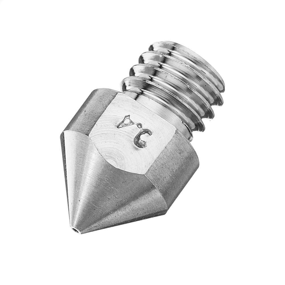 3pcs 1.2mm MK8 TC4 Titanium Alloy M6 Thread Nozzle For 3D Printer
