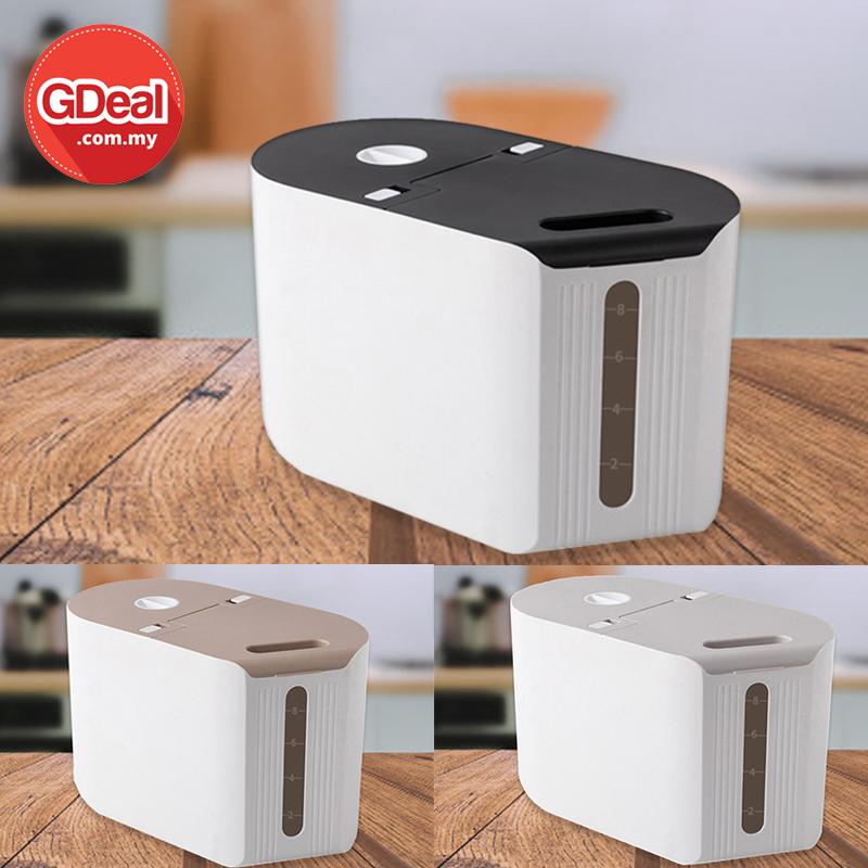 GDeal 8L Multifunction Household Cereal Grain Storage Box Kitchen Rice Storage Container Bekas Beras