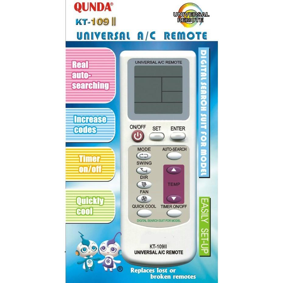 Qunda KT-109 II Universal A/C Remote | Shopee Malaysia