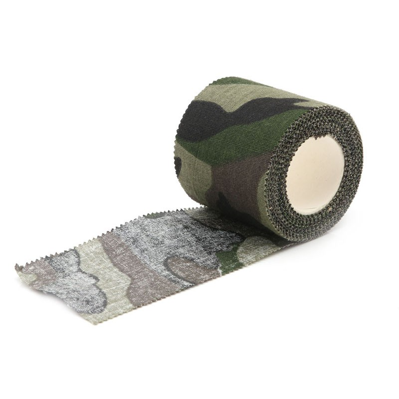 ✿✿Self-adhesive Non-woven Camouflage Cohesive Camping Hunting Camo Stealth Tape 5M