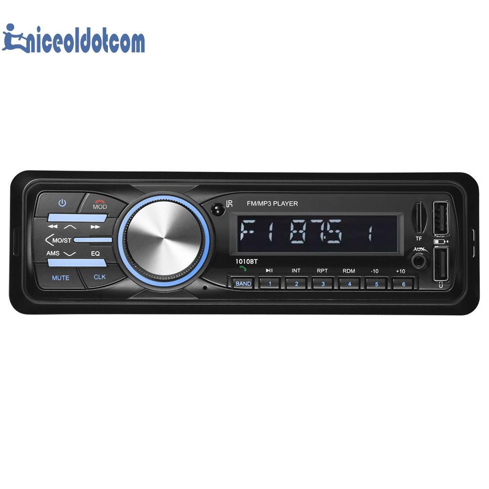 e5a6127a6d5 SWM 1010BT LCD Bluetooth In Dash Car Stereo MP3 Audio Player FM Radio AUX