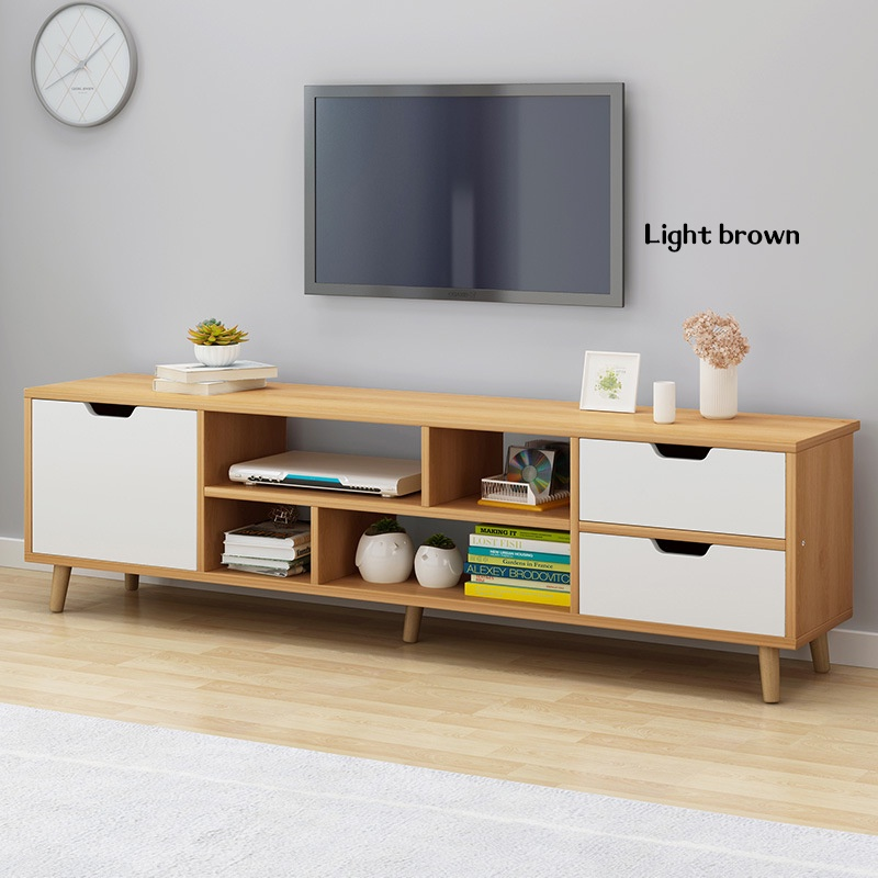 GDeal Multifunctional Modern Living Room TV Cabinet Space Saving TV Storage Rack With Drawers