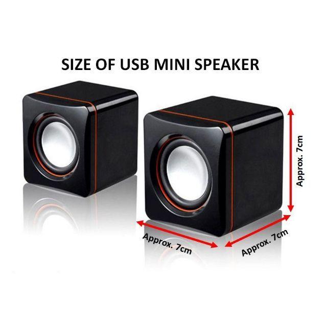 MALAYSIA STK  MINI PORTABLE WIRED AUDIO MUSIC 3 5MM USB POWER SPEAKER   SIMILAR GENIE WS858 JOC MINI+ Z121 BS-12 SADA