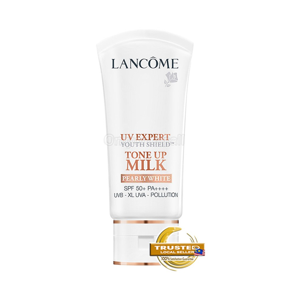 LancomeUV EXPERT TONE UP MILK SPF 50+ PA++++ 30ml (Pearly White With Free Gift)