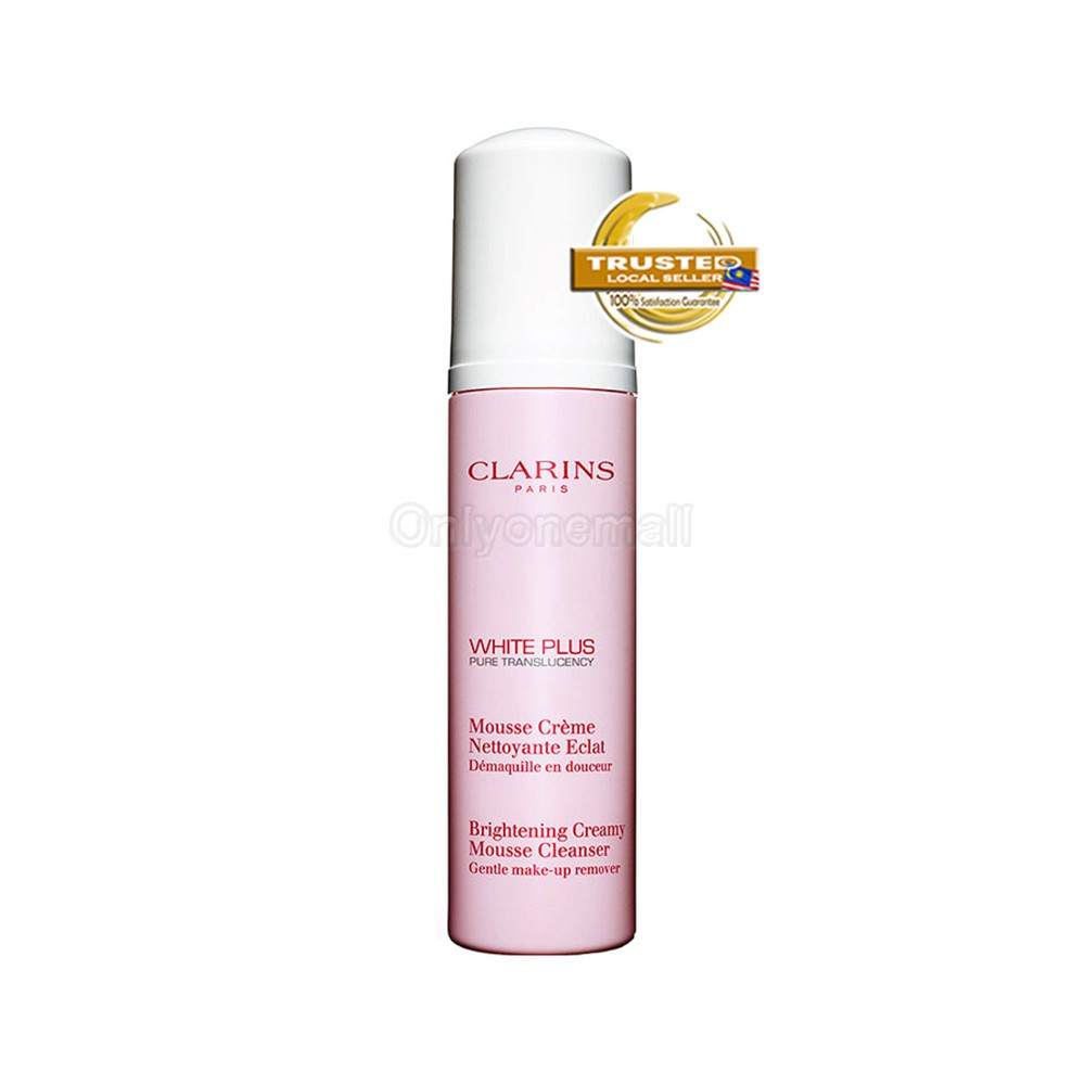 Clarins White Plus Pure Translucency Brightening Creamy Mousse Cleanser 150ml (With Free Gift)
