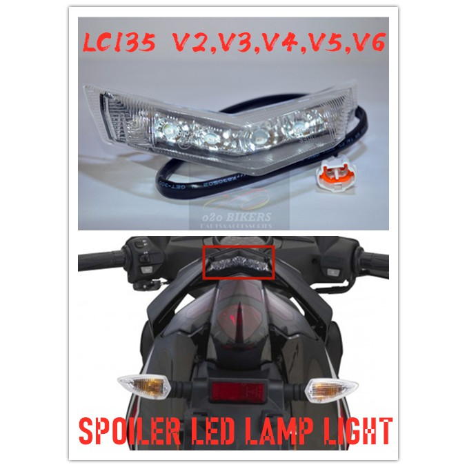 HIGH QUALITY OEM YAMAHA LC135 V4,V5,V6 TAIL REAR HANDLE BAR SEAT SPOILER LED LAMP LIGHT ONLY MADE IN MALAYSIA PRODUCT