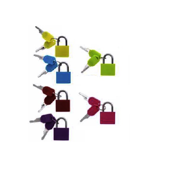 Neon Colored Plastic Coated Brass Padlock Premium Quality Travel Luggage Office Home Locker Cabinet Alloy Padlock 23mm