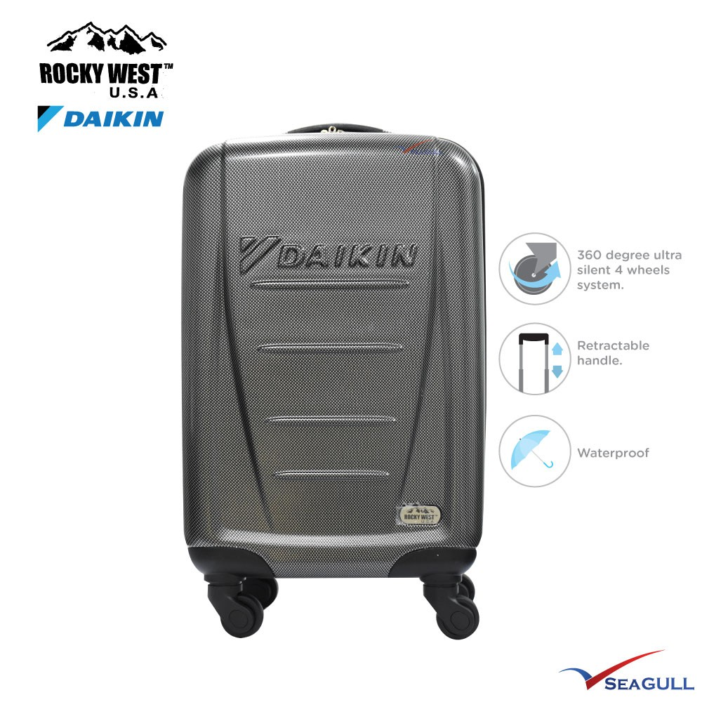rocky west 20 luggage bag daikin s special edition shopee malaysia
