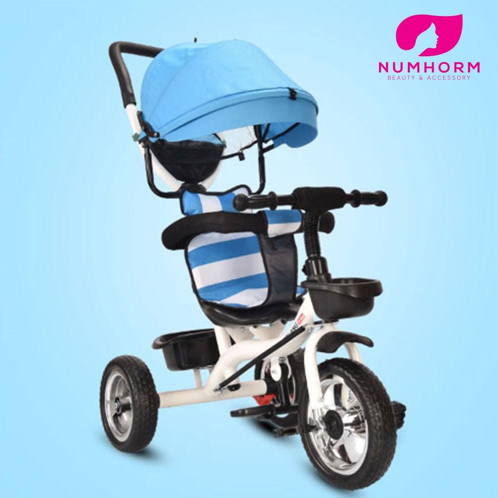 Numhorm รถเข็นเด็ก 3 ล้อ 3in1 เข็น/ปั่นได้ มาพร้อมหลังคาป้องกันUV สามารถปรับการใช้งานได้ 3 ร