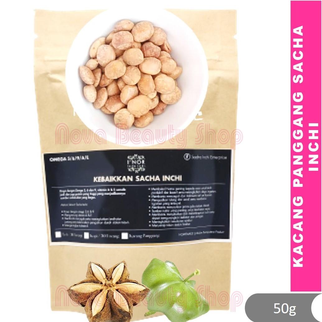 Kacang Panggang Sacha Inchi by I'Nor (50g) Plukenetia volubilis sacha peanut,  kacang omega